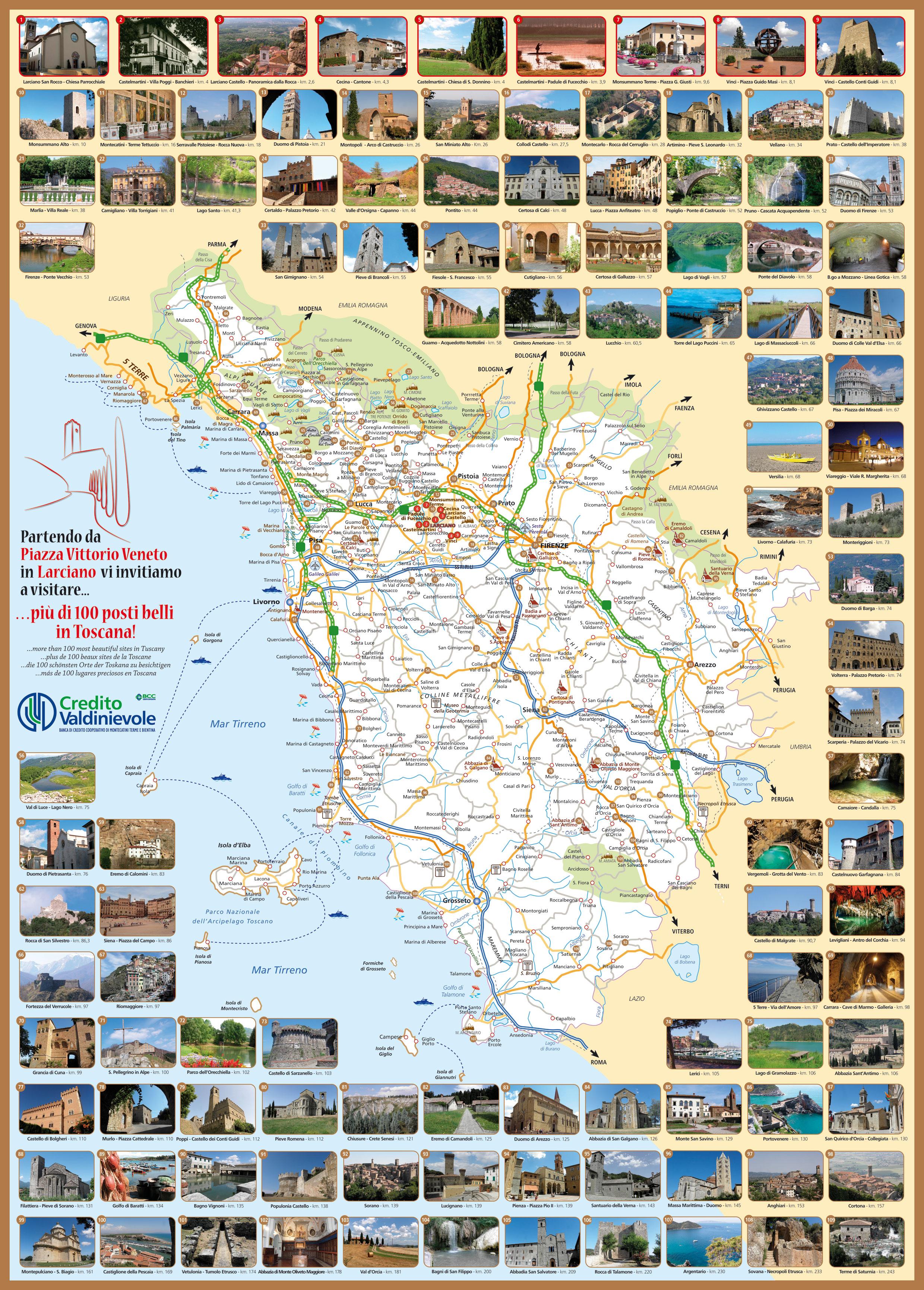 Www Cartina Toscana.La Cartina Della Toscana